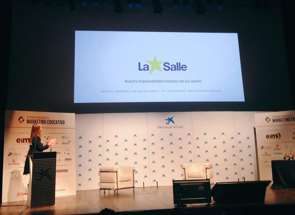 El Colegio La Salle de Paterna se alza con el premio al mejor video promocional en los II Premios Nacionales de Marketing Educativo