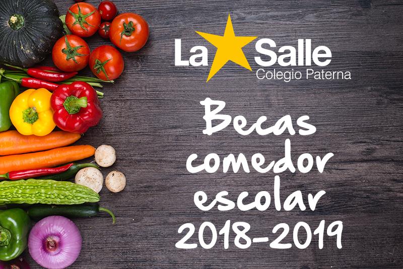Beca comedor escolar curso 2018-2019