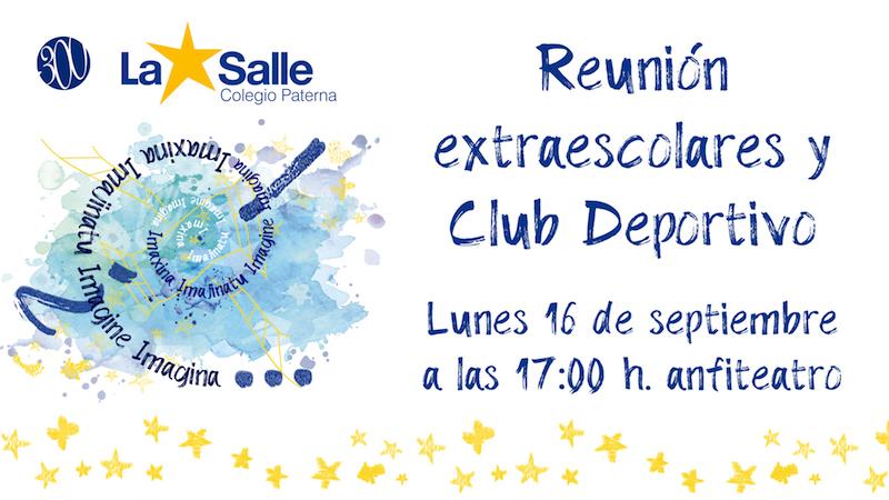 Reunión de Extraescolares y Club Deportivo La Salle