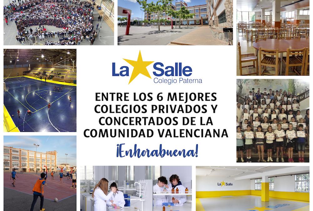 El Colegio La Salle de Paterna se posiciona en el puesto 6 de los mejores colegios de la Comunidad Valenciana