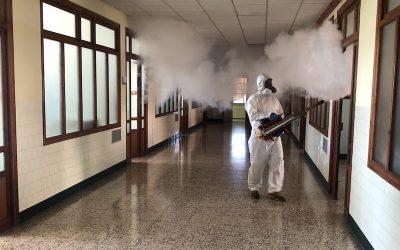 Limpieza y desinfección integral en las instalaciones del Colegio La Salle de Paterna