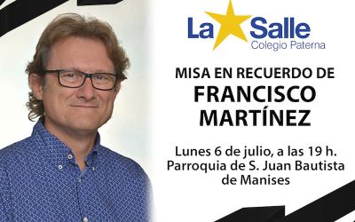 Misa en recuerdo a nuestro compañero Francisco Martínez