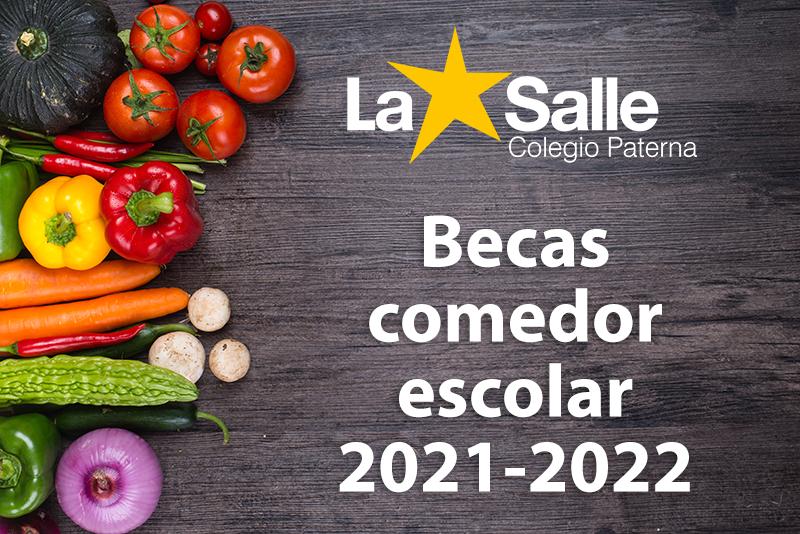 Beca comedor escolar curso 2021-2022