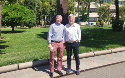 Ángel Civera, Director del Colegio La Salle Paterna se reúne con Jesús Marí, Gerente de la Universidad Politécnica de Valencia